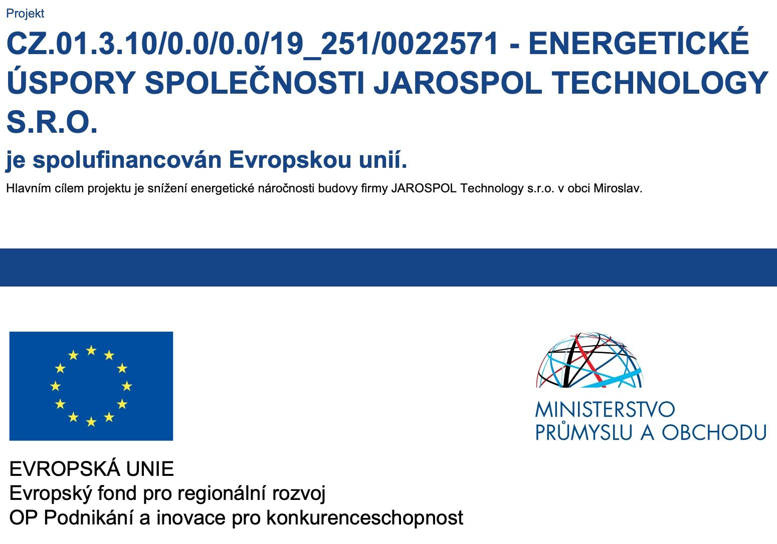 projekt uspory energie Jarospol