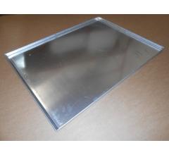Pečný plech 800 x 600 mm, síla 2,0 mm, AlMn, plný, okraj 3x90/45 s pertlem