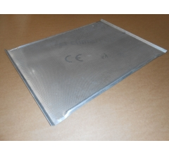 Pečný plech 800 x 600 mm, síla 1,5 mm, AlMg3, rovný děrovaný s prolisem, pertl