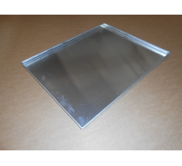 Pečný plech 580 x 460 mm, síla 2,0 mm, AlMn, plný, okraj 4x90, s pertlem