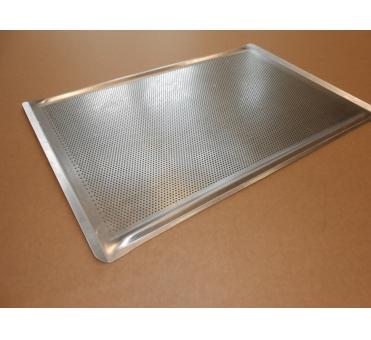 Pečný plech 750 x 500 mm, síla 2 mm, AlMg3, rovný děrovaný s prolisem