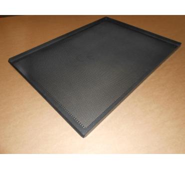 Pečný plech 800 x 600 mm, síla 2,0 mm, AlMn, děrovaný, okraj 3x90/45 bez pertlu, teflon