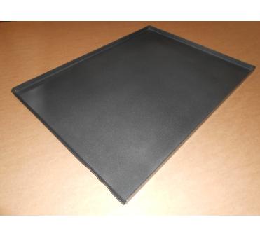 Pečný plech 800 x 600 mm, síla 2,0 mm, AlMn, plný, okraj 3x90/45 bez pertlu, teflon