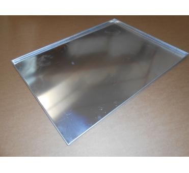 Pečný plech 800 x 600 mm, síla 2,0 mm, AlMn, rovný plný, okraj 4x90, pertl